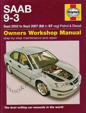 SAAB 9-3 SHOP MANUAL BOOK SERVICE REPAIR HAYNES TURBO CHILTON WORKSHOP 2003 2007