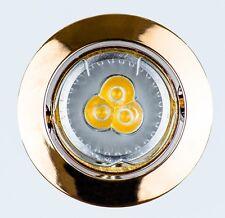 LED Spot 230V GU10 gold rund Einbau Spot Decke Einbaustrahler MR16 Schwenkbar