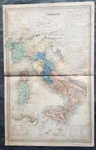 1835 A H Dufour Antique Map of Italy, Sicily, Sardinia, Corsica