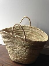 Moroccan Large Basket French Market Beach Basket, Tote Shopper Bag