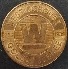 1886-1936 Westinghouse Golden Jubilee brass token! 32 mm!