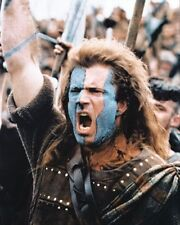 MEL GIBSON AS WILLIAM WALLACE FROM BRAVEHEAR 8X10 PHOTO