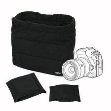 Black Shockproof DSLR SLR Camera Bag Partition Padded Insert Protection Case Bag