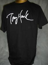 TONY HAWK SIGNATURE LOGO MEN'S LARGE SHORT SLEEVE BLACK SKATEBOARD T-SHIRT, NEW!