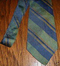 "Men's Silk Neck Tie 56"" Mr. John Multi Color Striped Vintage"