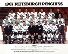 1967-68 PITTSBURGH PENGUINS INAUGURAL FIRST SEASON TEAM 8x10 PHOTO
