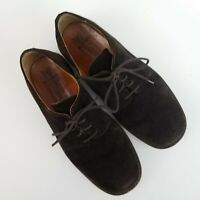Mephisto Air Relax Oxfords Size 8 1/2 Goodyear Welt Suede Leather Caoutchouc