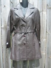 NEW METRO STYLE  BROWN LEATHER JACKET.SIZE 8 PETITE