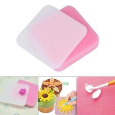 2X Fondant Flower Shapes Mat Shaping Sponge Pad Cake Baking Mold Tools