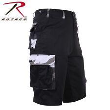 Rothco Men's Military Black Camo Long Cargo Shorts - Size XS (Waist 23-27)