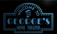 ph016-b George's Home Theater Popcorn Bar Beer Neon Light Sign