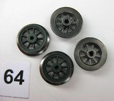 Fleischmann Dampflokräder, Ersatzteil o. Ladegut, Spur H0, Ø 10 mm, 4 Stück (64)