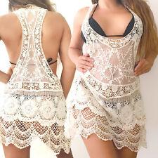 White Beach dress cover up gehäckelt Punta Playa vestido bikini dress enmascarar