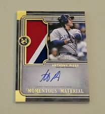 2019 Museum Collection ANTHONY RIZZO 3 COLOR GAME USED PATCH AUTO SSP # 2/5