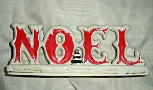 VTG RETRO NORCREST CERAMIC POTTERY NOEL CHRISTMAS CANDLE HOLDER EXC COND!