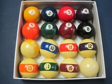 "Belgium Made Aramith Billiard Ball Set Sportcraft 16-2.25"" VGC"