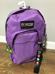 "NWT Trans by Jansport 17"" Purple Backpack"