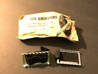 NOS Vintage Pair Ice Grippers Japan Steel Claws to help Walk on Ice (novelty) H9