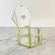 Geometric Glass Rings Box Nordic Transparent Ring Boxes Home Decoration Ornament