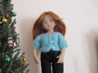 """NO DOLL DARLING 2 SWEATERS  FOR 13"""" EFFNER L. DARLING   BLEUETTE BETSY McCALL"""