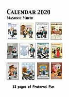 2020 Calendar FOR Freemasons with Masonic Mirth