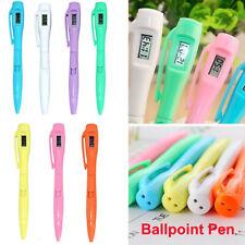 Creative Digital Watch Ballpoint Pen Electronic Clock Pen Student Test Pen