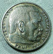 3. Reich - 2 Reichsmark 1938 A Silber - Paul.v. Hindenburg & Adler & .. st/ unc