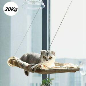 Cute Pet Hanging Beds Window Mount Sunny Seat Cat Balcony Hammock Bearing 20kg