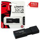 Kingston 32GB USB 3.0 DataTraveler DT 100 G3 32G USB Flash Drive Pen Thumb Drive