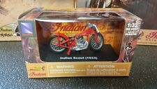 NIB New-Ray 1933 Indian Scout motorcycle 1:32 diecast model toy