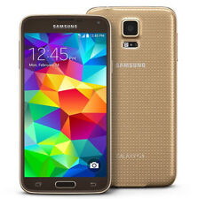 "Oro Libre Telefono Movil 5.1"" Samsung Galaxy S5 G900F 4G LTE 16GB 16MP Europe"