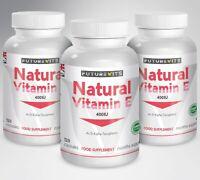 Vitamine E 3 x 120 Capsules pour Cheveux Visage Peau Brillant Max Huile Fort