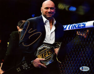 DANA WHITE SIGNED AUTOGRAPHED 8x10 PHOTO PRESIDENT OF THE UFC MMA BECKETT BAS