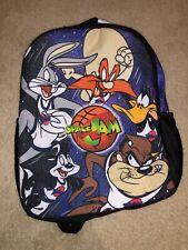 Warner Brothers Looney Toons Space Jam Dual Zipper Backpack Brand New!