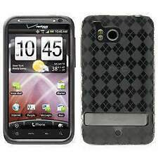 AMZER Luxe Argyle High Gloss TPU Soft Gel Skin Case for HTC ThunderBolt - Clear