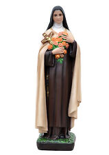 Saint Therese of Lisieux resin statue cm. 62 with glass eyes