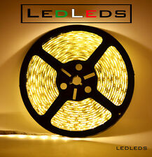 300 LED 3528 STRIP STRISCIA 5 m 12V BIANCO LUCE CALDA IMPERMEABILE ip65 ACQUARIO