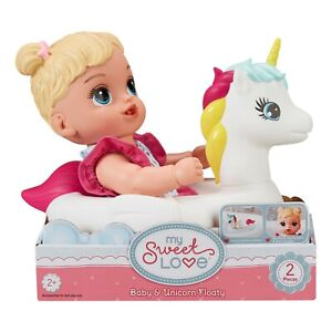 My Sweet Love Soft Baby and Unicorn Floaty Play Set, 2 Pieces