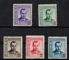 Cinderella Stamp Spain Set of 5 MLH  -az