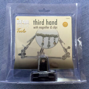 Beadsmith Third Hand tool jewellery making magnifier with clips