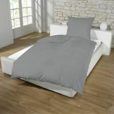 Dreamhome Hotel Damast Streifen Bettwäsche 135x200 Kissenbezug mit Baumwolle