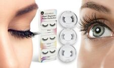 Set of 3 Pairs Magnetic False Eyelashes Double Magnets Natural Length Reusable