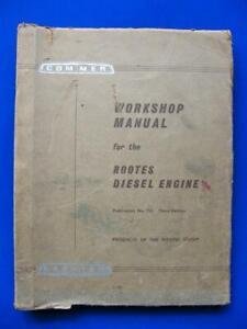Rootes Diesel Engine Workshop Manual Commer Karrier