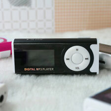 "1.3"" Black MP3 Media Player Support 16GB SD TF USB Clip LCD Screen+LED Light"