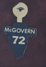 SCARCE 1972 McGovern DEMOCRATIC PARTY Illinois CHICAGO UNION MADE lapel tab pin