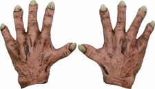 Morris Costumes New Monsters Flesh Motif Latex Hands Gloves One Size. TB25356