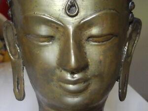 alter Buddha Bronze Kopf