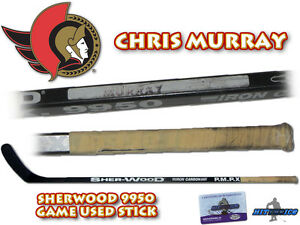 CHRIS MURRAY Game Used Stick OTTAWA SENATORS - w/COA HOLOGRAM
