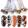4x Leopard nail art transfer foil sexy starry sky nail sticker decals decor_hc