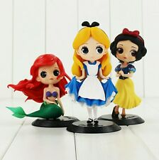 DISNEY Q POSKET/ SET 3 PCS 10 CM- SET 6 FIGURES ALICE, SNOW WHITE & ARIEL  BOX